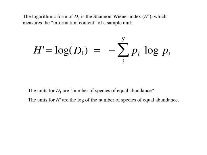 The logarithmic form of
