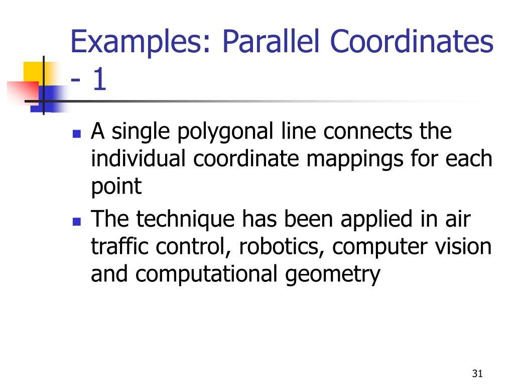 Examples: Parallel Coordinates - 1