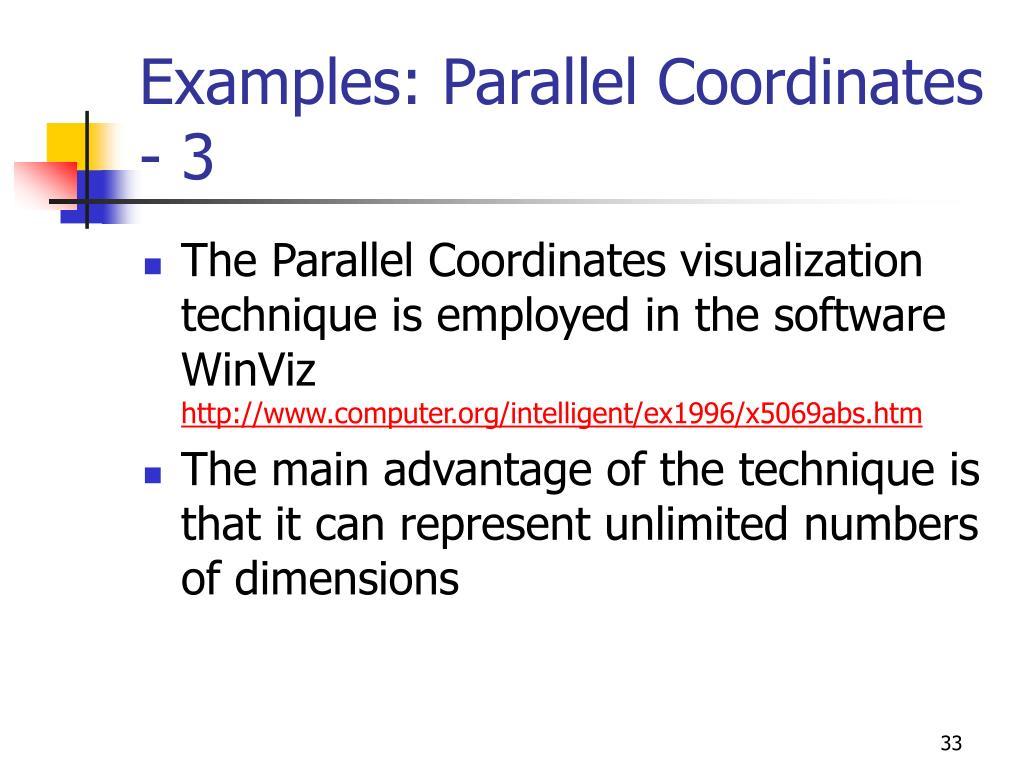 Examples: Parallel Coordinates - 3