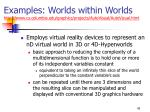 examples worlds within worlds http www cs columbia edu graphics projects autovisual autovisual html