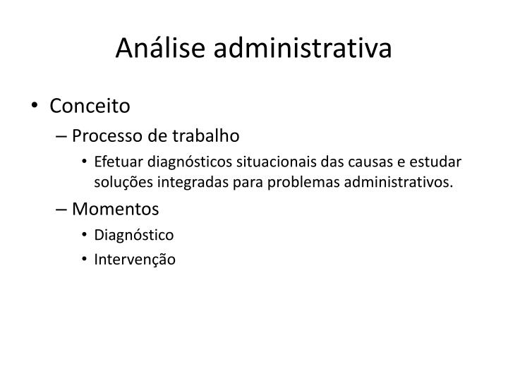 An lise administrativa1
