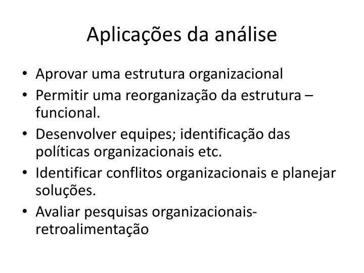 Aplicações da análise