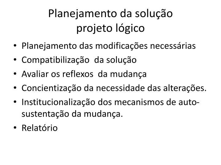 Planejamento da solução