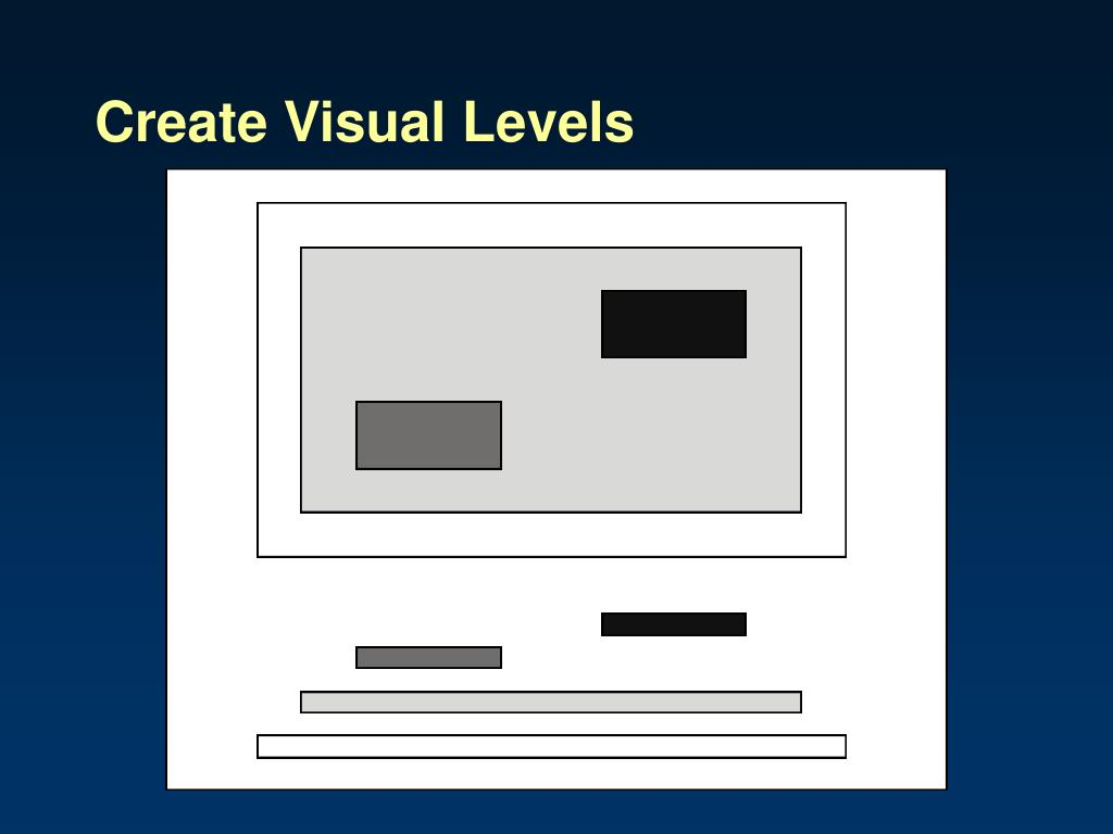 Create Visual Levels