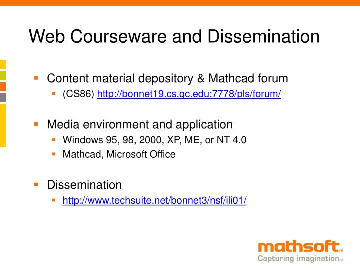 Web Courseware and Dissemination