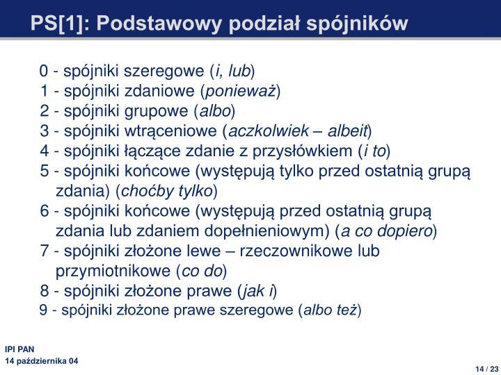 PS[1]: Podstawowy podział spójników