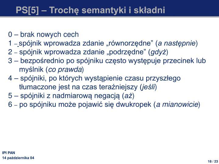 PS[5] – Trochę semantyki i składni