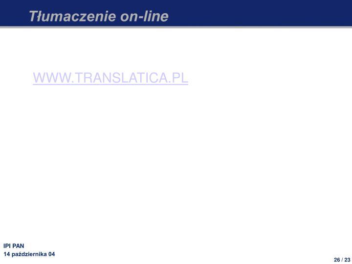 Tłumaczenie on-line