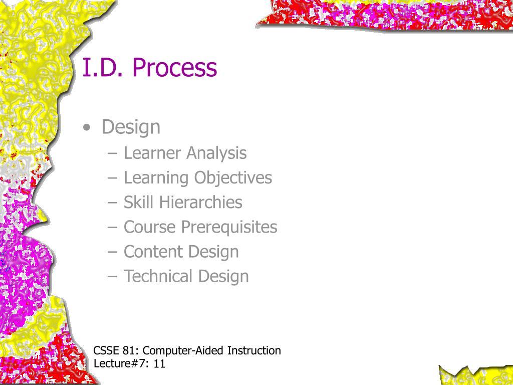 I.D. Process