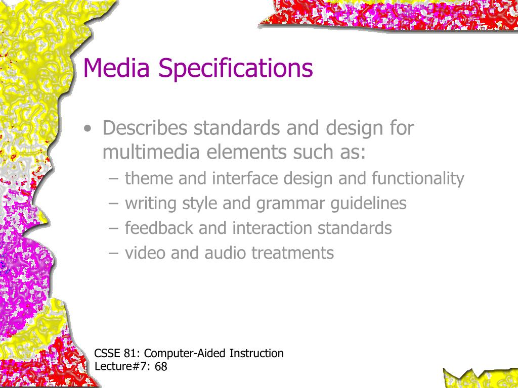 Media Specifications