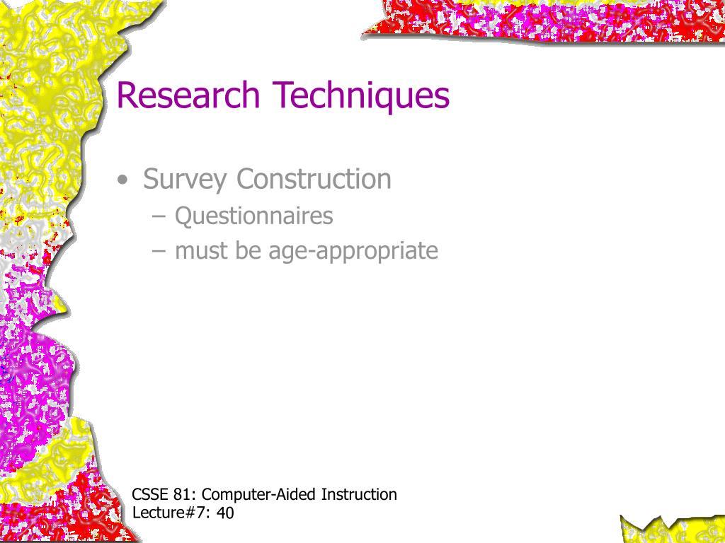 Research Techniques