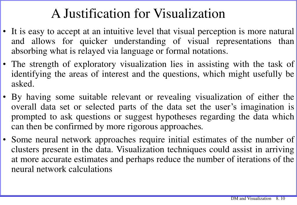 A Justification for Visualization
