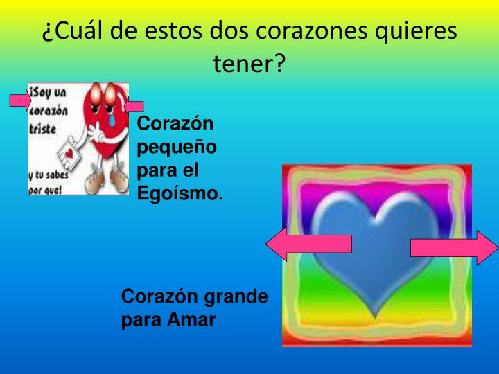 ¿Cuál de estos dos corazones quieres tener?