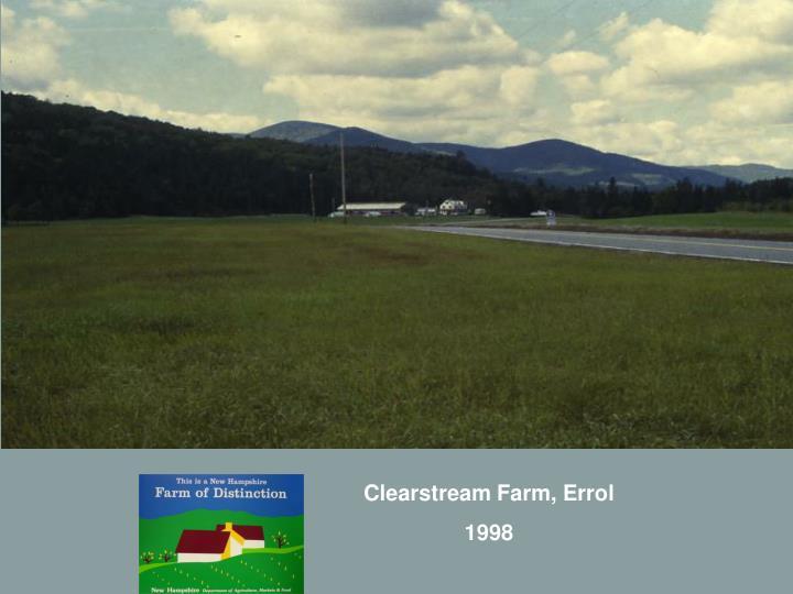 Clearstream Farm, Errol