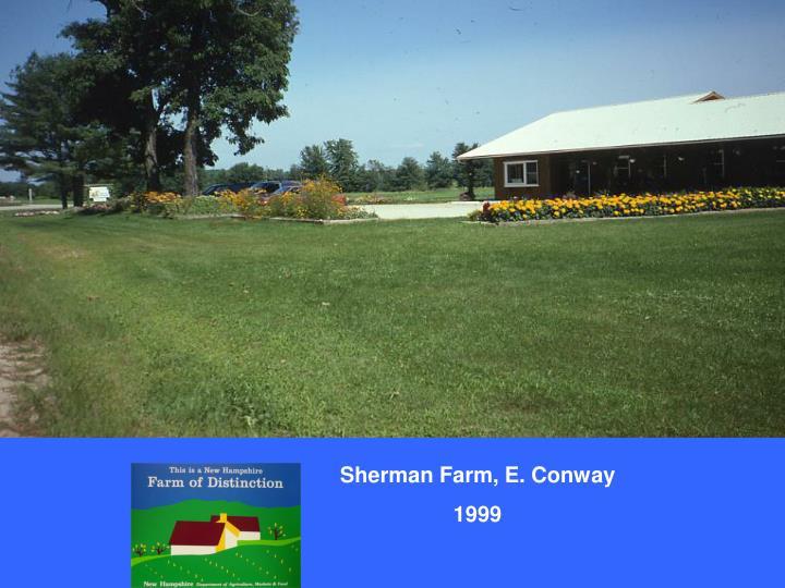 Sherman Farm, E. Conway