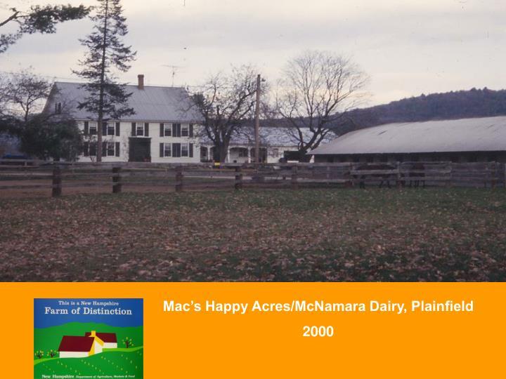 Mac's Happy Acres/McNamara Dairy, Plainfield