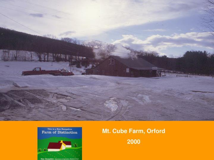 Mt. Cube Farm, Orford
