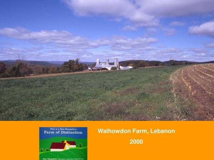 Walhowdon Farm, Lebanon