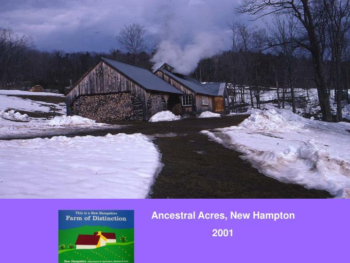 Ancestral Acres, New Hampton