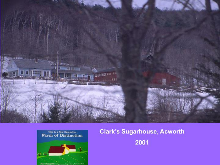 Clark's Sugarhouse, Acworth
