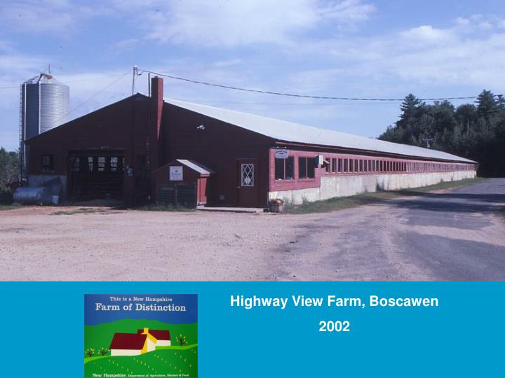 Highway View Farm, Boscawen