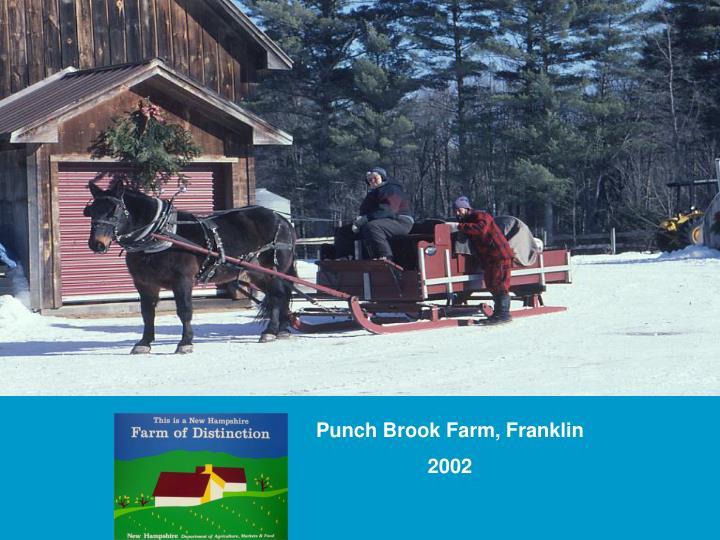 Punch Brook Farm, Franklin