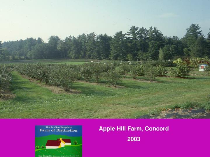 Apple Hill Farm, Concord
