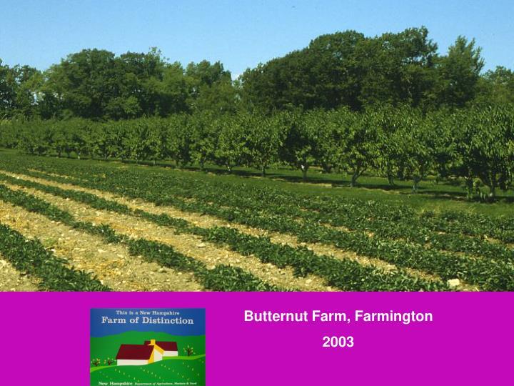 Butternut Farm, Farmington