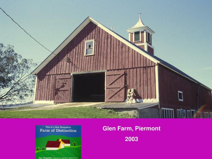 Glen Farm, Piermont