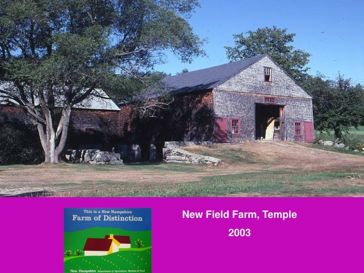 New Field Farm, Temple