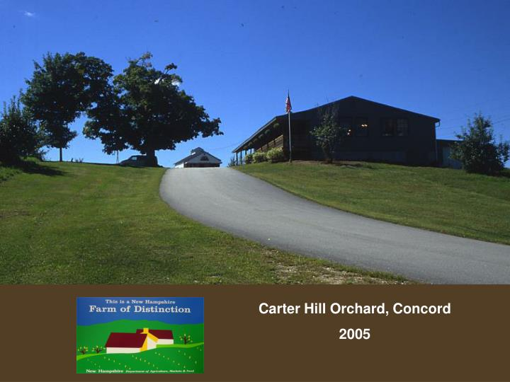 Carter Hill Orchard, Concord