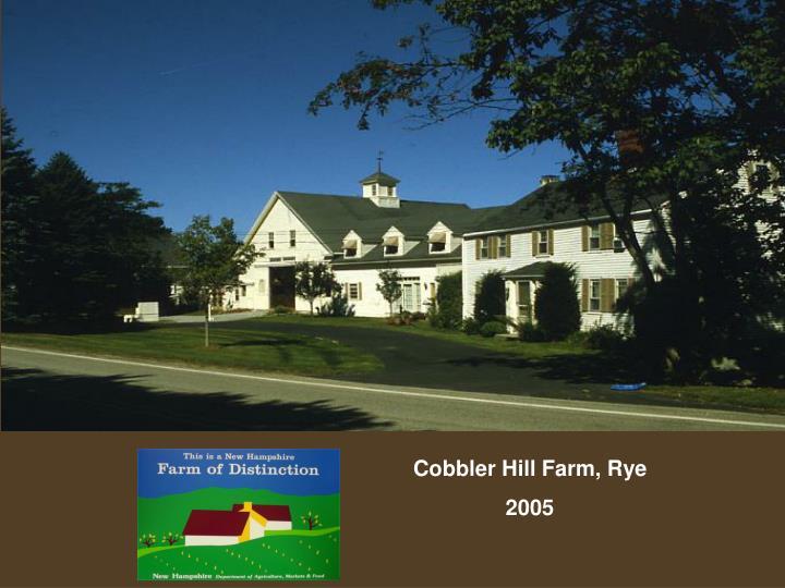 Cobbler Hill Farm, Rye