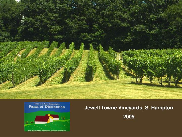 Jewell Towne Vineyards, S. Hampton