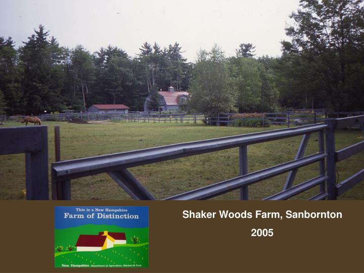 Shaker Woods Farm, Sanbornton