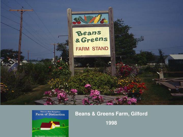 Beans & Greens Farm, Gilford