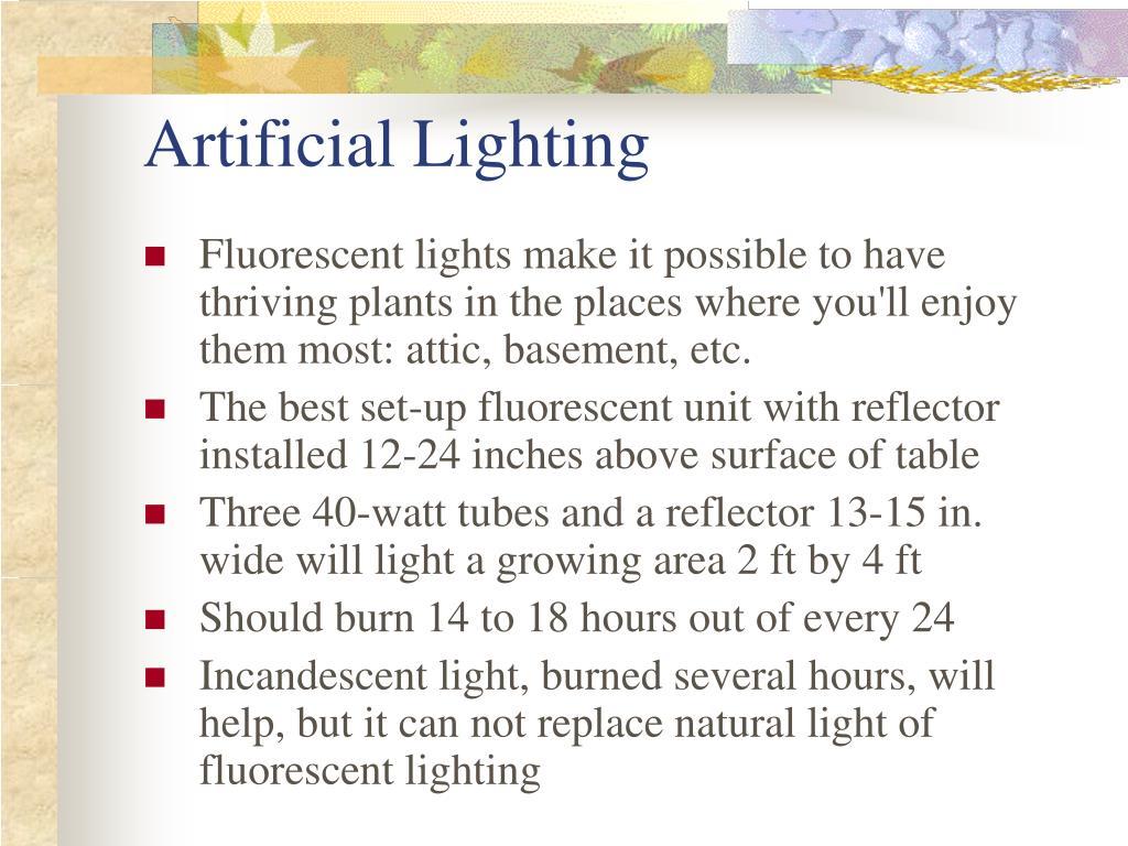 Artificial Lighting