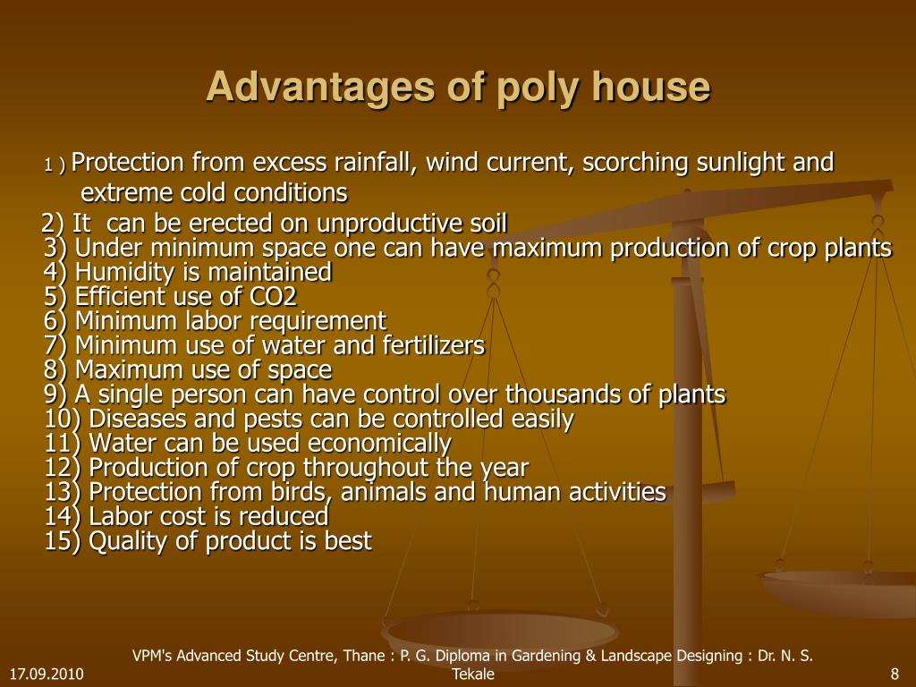 Advantages of poly house