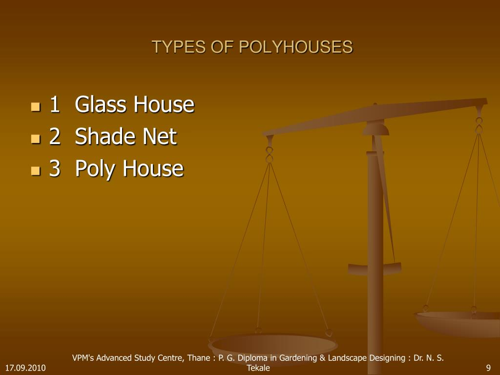 TYPES OF POLYHOUSES