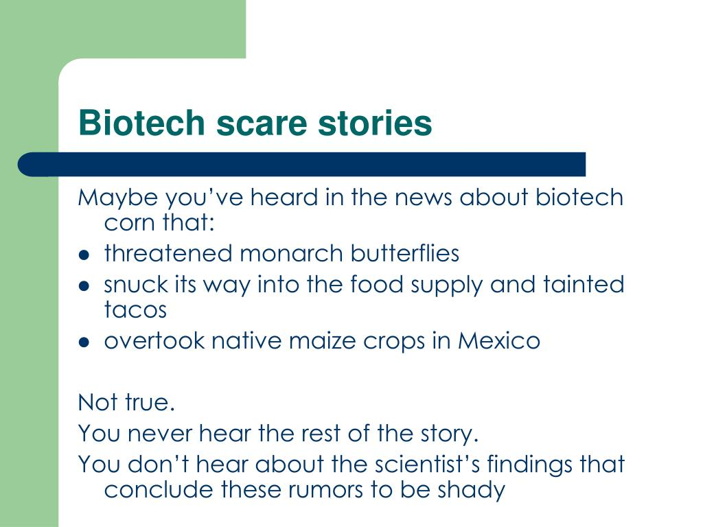 Biotech scare stories