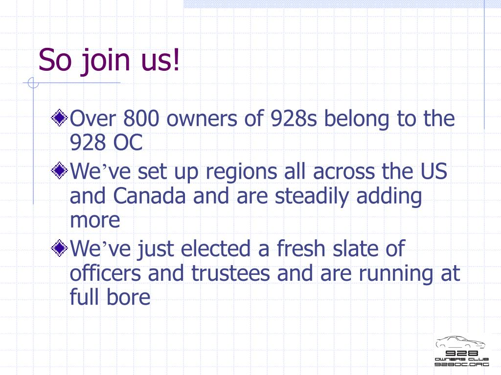 So join us!