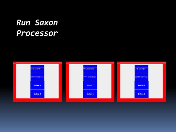 Run Saxon Processor