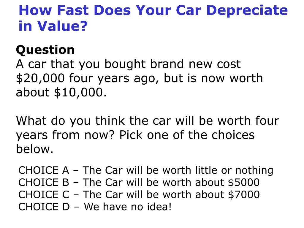 How Fast Does Your Car Depreciate in Value?