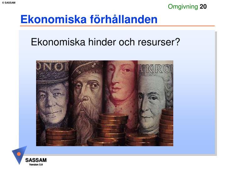 Ekonomiska förhållanden