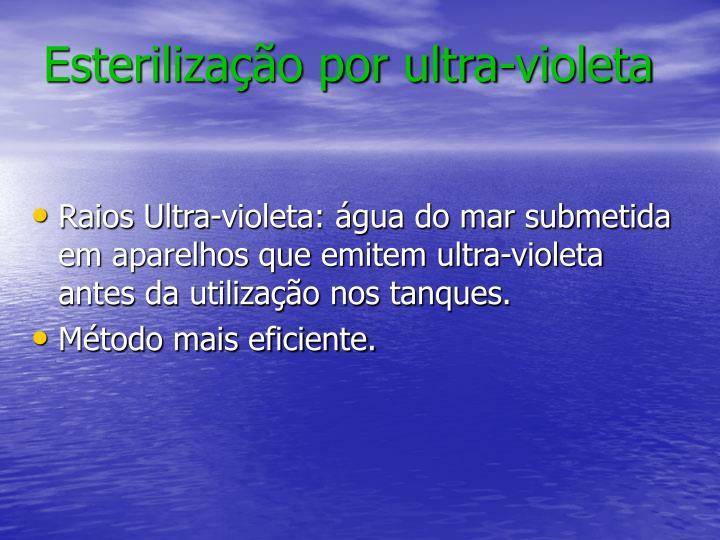 Esterilização por ultra-violeta