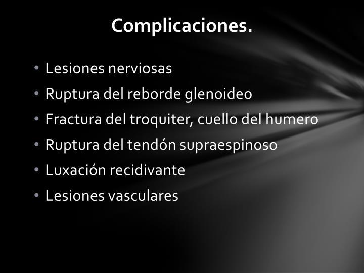 Complicaciones.