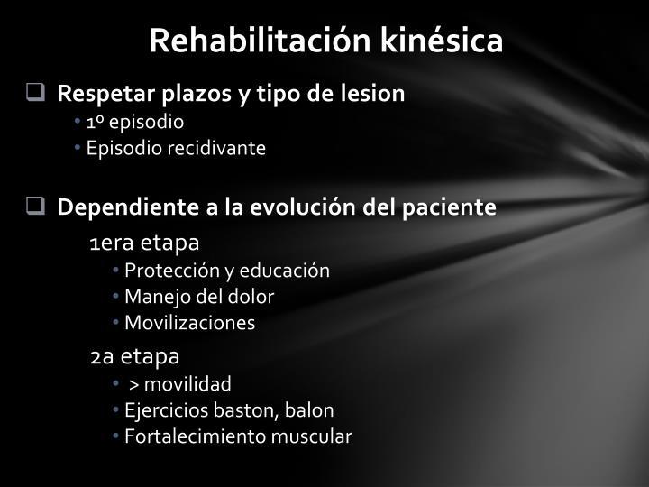 Rehabilitación kinésica
