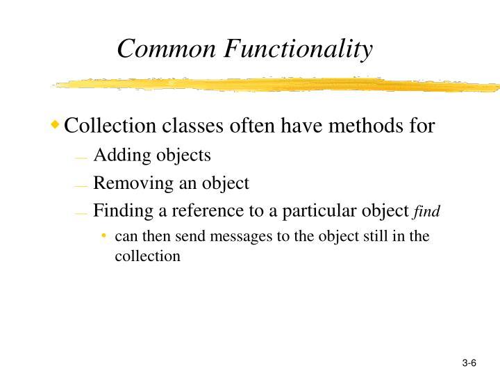 Common Functionality