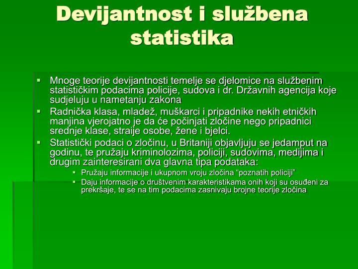 Devijantnost i službena statistika