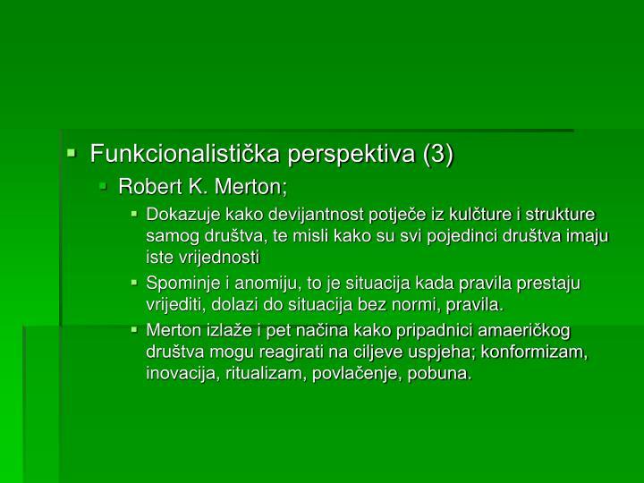 Funkcionalistička perspektiva (3)
