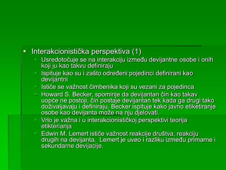 Interakcionistička perspektiva (1)